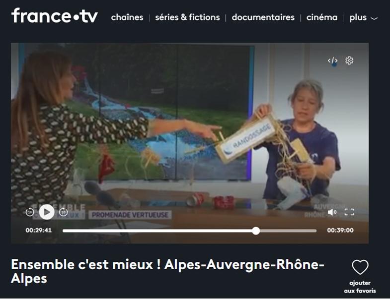 Sur le plateau de France TV, Ensemble c'est mieux !